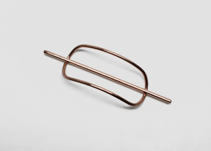 LOW MINI HAIR PIN. COPPER